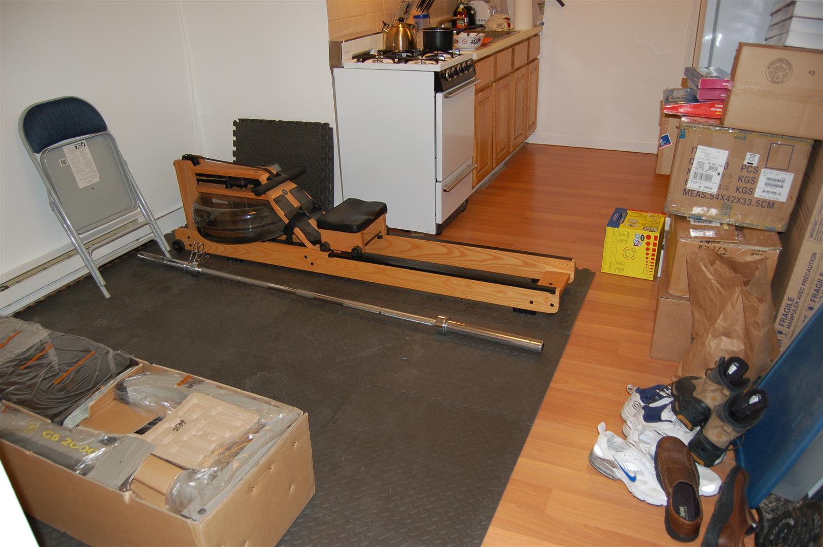My apartment home gym raam dev