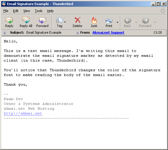 Plain Text EMail Signatures  Raam Dev