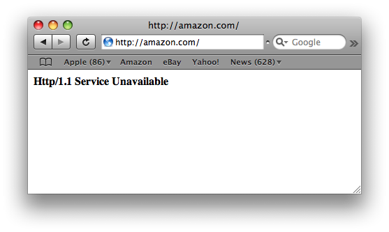 Http/1.1 Service Unavailable