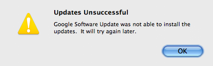 Updates Unsuccessful