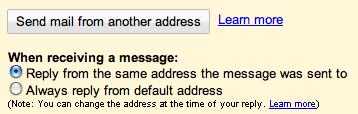 GMail - Send mail from another address