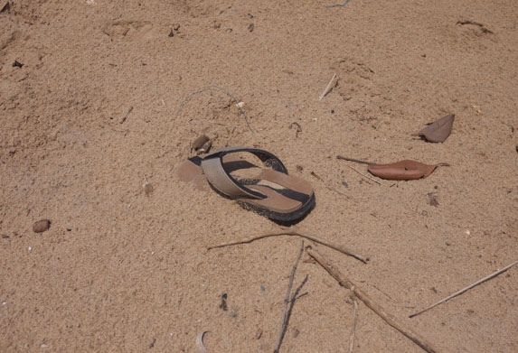 Sandals Made of Gold