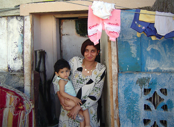 Pakistani Woman and Baby in UAE