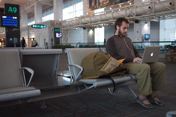 Working at the airport in Kuala Lumpur, Malaysia