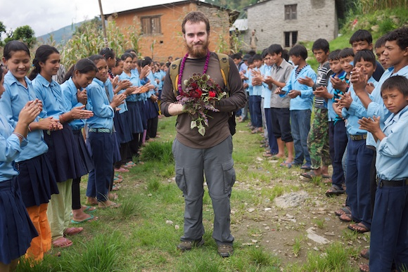 Nepal FREED - Ainshelu Bhome Kahule 7 School Welcoming Raam