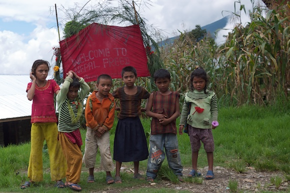 Children in Kahule, Nepal