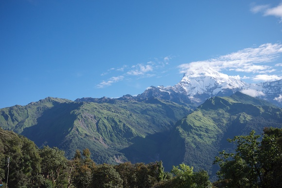 View of the Himalayan Mountains