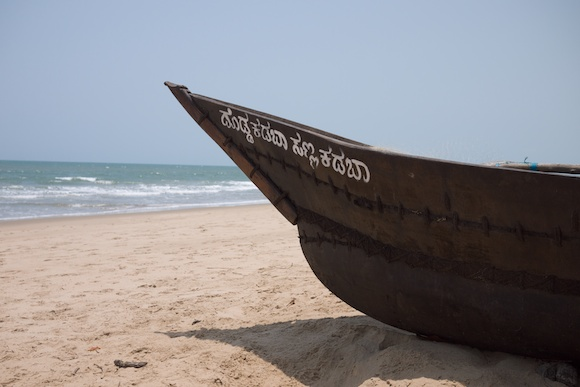 Boat on the Beach in Gokarna, India