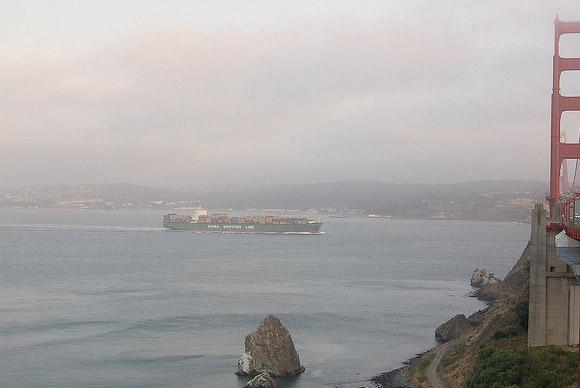 Cargo Boat in San Francisco, CA