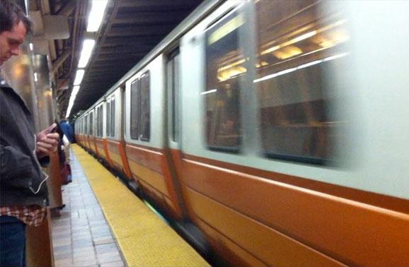 Orange Line Subway in Boston
